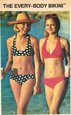 Simplicity 6353 Vintage 70s BIKINI Sewing Pattern Size Medium 12-14