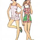 Simplicity 5631 70s Vintage Misses RETRO Short Short OVERALLS and HAT Sewing Pattern
