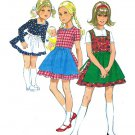 Simplicity 9202 70s Girl's DIRNDL DRESS & APRON Vintage Sewing Pattern *UNCUT* in German