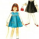 Simplicity 4568 Vintage 60s Toddlers JUMPER with Sailor Style Collar & Blouses Sewing Pattern