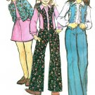 McCall's 4219 Uncut Vintage 70s Girls' Flared PANTS, Unlined JACKET, VEST & SKIRT Sewing Pattern B30