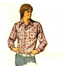 Simplicity 5047 Vintage 70s Men's VEST & Disco SHIRTS Sewing Pattern