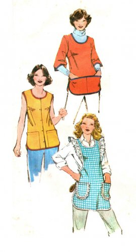 Simplicity 9209 Vintage 70s Lovely Set of APRONS Sewing Pattern with Ruffles