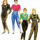 Burda 4929 Vintage 80s Ladies Pleated Loose PANTS and Short JACKET Sewing Pattern