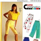 "Burda 5430 80s ""Super Easy "" SHORTS and PANTS two lengths for Stretch Knits Vintage Sewing Pattern"