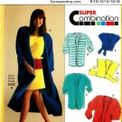 Burda 5431 Vintage 80s Raglan Sleeve COAT, JACKET & Wrap TOP Sewing Pattern