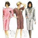 Burda 5451 Vintage 80s DRESS with Shoulder Pads Sewing Pattern
