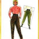 Burda 5582 Vintage 80s Pleated PANTS with Elasticized Cuffs Sewing Pattern