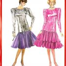 Burda 5857 Vintage 80s Party or Cocktail Dress Look - TOP and SKIRT Sewing Pattern