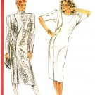 Burda 5912 Vintage 80s Chemise DRESS with zipper details Sewing Pattern