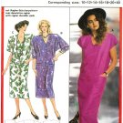 Burda 5983 Vintage 80s Lovely Chemise DRESS with Raglan Shoulders, V-Neck Sewing Pattern