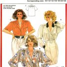 Burda 6119 Vintage 80s Set of BLOUSES Sewing Pattern