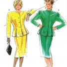 Burda 6165 Vintage 80s Slim SKIRT and Inverted Pleat JACKET Suit Sewing Pattern