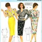 Burda 6333 Vintage 80s BLOUSE and SKIRT Sewing Pattern