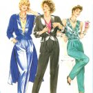 Burda 6384 Vintage 80s Tuxedo Style JACKET with Overskirt and BLOUSE Sewing Pattern