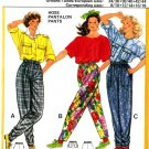 Burda 6395 Vintage 80s Wide legged PANTS with Tapered Ankles Sewing Pattern