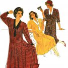 Burda 6439 Vintage 80s Annie Hall 20s Style DRESS Sewing Pattern