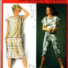 Burda 6862 Vintage 80s Cute Sheath Sun DRESS and Summer JUMPSUIT Sewing Pattern