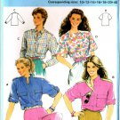 Burda 6983 Vintage 80s Lovely Set of BLOUSES Sewing Pattern