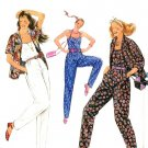 Burda 8459 Vintage 80s Tank TOP, PANTS & Shirt JACKET Sewing Pattern