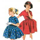 McCall's 6657 Vintage 60s Unique DRESS with Convertible Collar and Full Skirt Sewing Pattern