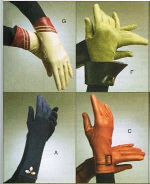 "Vogue 8311 Classic Sexy GLOVES Sewing Pattern Size S/7"", M/8"", L/9"""