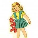Simplicity 2218 40s UNCUT Adorable Suspender SKIRT & Lumber JACKET Vintage Sewing Pattern *UNCUT