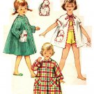 Simplicity 4503 Vintage 50s Fab Beach Cover Up or Robe with Bunny Pockets Sewing Pattern