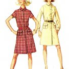Simplicity 7856 Vintage 60s Shirtwaist DRESS , Long or Short Sleeves Sewing Pattern