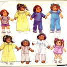 "McCall's 9091 Vintage 80s Clothes Wardrobe for 18"" & 23"" Soft Sculpted Dolls Cabbage Patch"