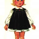 Simplicity 8712 Vintage 70s Toddlers Dress with Embroidered Yoke, Pinafore, Panties Sewing Pattern
