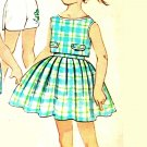 Simplicity 3496 Vintage 60s Toddlers Sweet Full Skirt,Top and Shorts Sewing Pattern