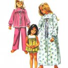 Simplicity 9095 Vintage 70s Baby Doll Pajamas and Nightgown (Pants also) Sewing Pattern Bust 32