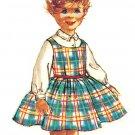 Simplicity 2209 Vintage 50s Stunning Little Girls Dress, Jumper & Blouse Sewing Pattern