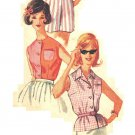 Simplicity 3745 Vintage early 60s Misses' Set of Blouses Sewing Pattern