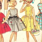 Simplicity 4924 Vintage early 60s Girls 7 Day Wardrobe of Dresses and Bonnet Hat Sewing Pattern