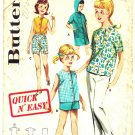 Butterick 2689 Vintage 60s Girls&#39; Sportswear with Beach Dress with Hood Sewing Pattern