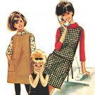 McCall's 6971 Vintage 60s Girls' Helen Lee design Dress or Jumper-Patch Pkt & T-Neck Sewing Pattern