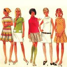 Butterick 4900 Vintage 60s Low Waisted Junior Dress with A-Line Skirt, Roll Collar