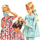 "McCall's 6697 Vintage 60s Monogram Pajamas and Night Shirt ""Slumber Party"" Sewing Pattern"