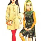 McCall's 8866 Vintage 60s Girls Fab Pant Dress or Pant Jumper Sewing Pattern