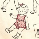 Butterick 3373 PHOTOCOPY of  Adorable Little Girls Pinafore Sun Suit & Dirndl Skirt Sewing Pattern