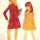 McCall's 9042 Vintage 60s Mod Girls' A Line Pant Dress or Dress Sewing Pattern
