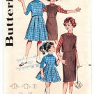 Butterick 9130 Vintage 60s UNCUT Girls Jumper Slim or Pleated Skirt