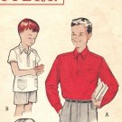Butterick 5839 Vintage 50s Boys Shirt Sewing Pattern Size 6