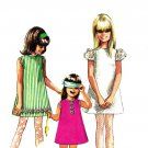 Simplicity 7567 60s MOD Girl's DRESS & SHORTS Vintage Sewing Pattern