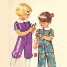 Simplicity 9685 Cute Vintage 70s Toddler Girls Jumpsuit Romper CapriLength Sewing Pattern Size 1