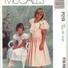 McCall's P213 Little girls Anniversary Party Dress Special Occassion Puff slv. Pattern Sizes 4,5,6