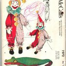 McCall's 1972 UNCUT Vintage 50s Pajama Bags Clown, Alligator & Stuffed Toy, Transfer Sewing Pattern