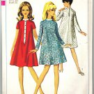 Simplicity 6923 Vintage 60s Mod Flared A Line Dress Sewing Pattern Size 12T Bust 32